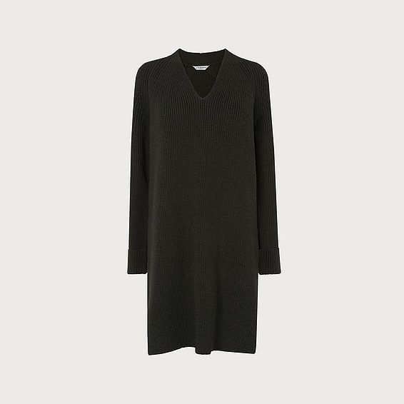 Zurie Moss Merino Wool Dress