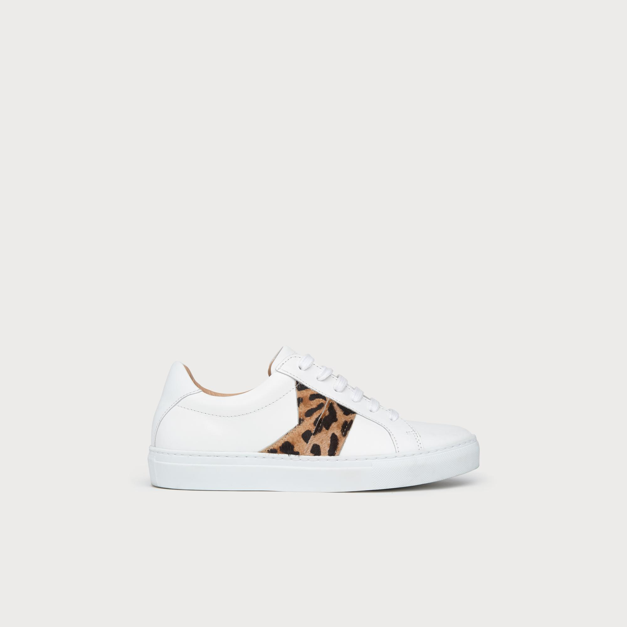Alivia Leopard Print Lace Up Trainers
