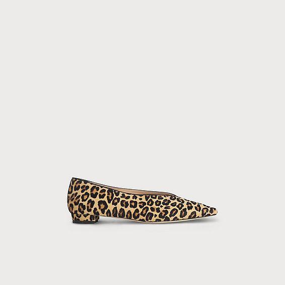 Constance Leopard Print Calf Hair Flats