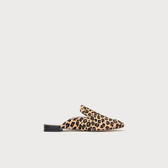 Erin Leopard Print Calf Hair Flats