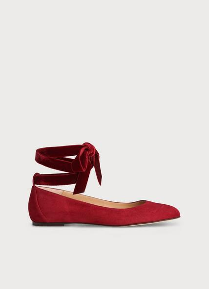 Maddy Poppy Suede Flats