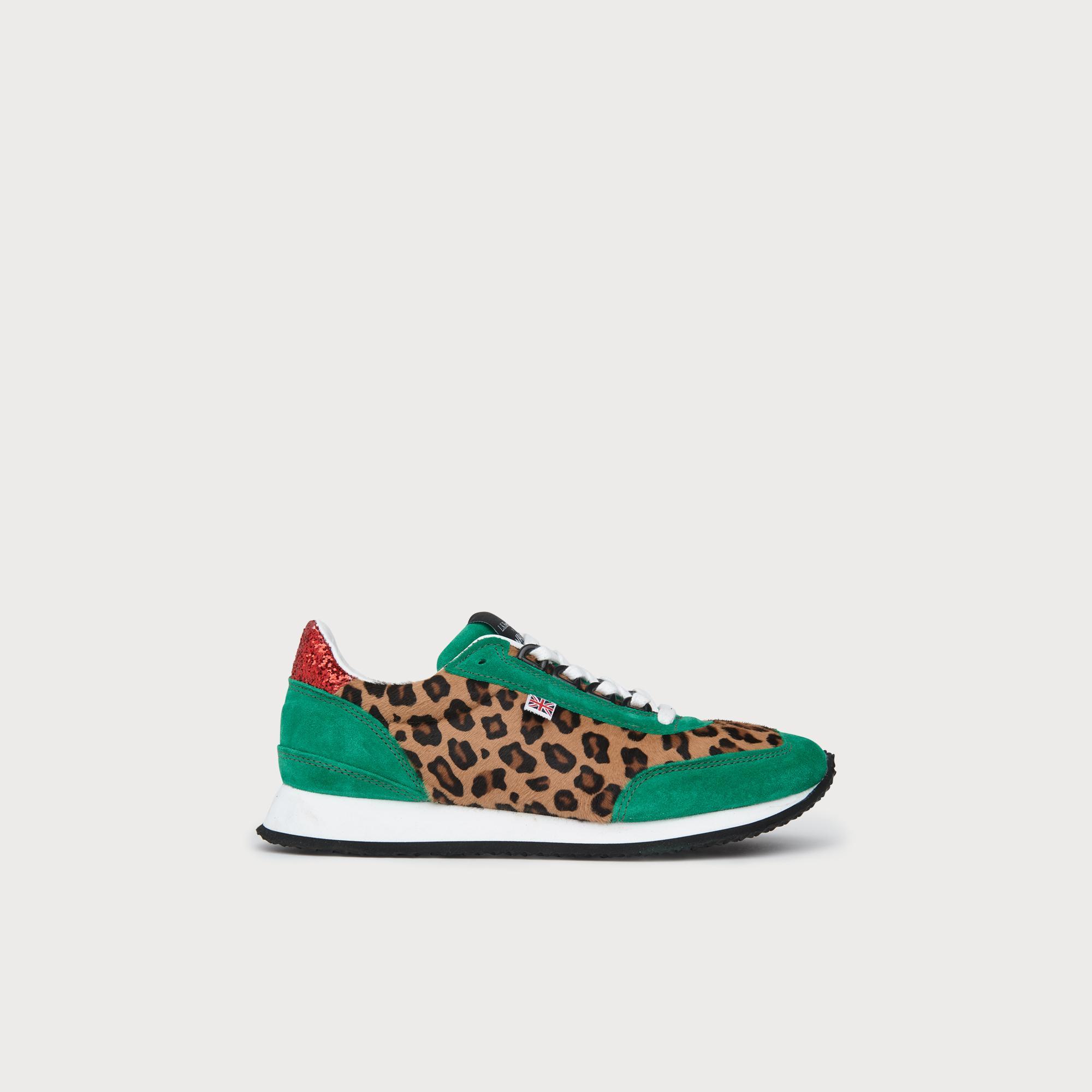 6c47f485596be Paula Leopard Print Lace Up Trainers | L.K.Bennett, London