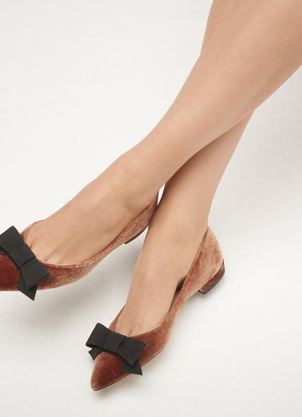 Sammy Bronze Velvet Flats