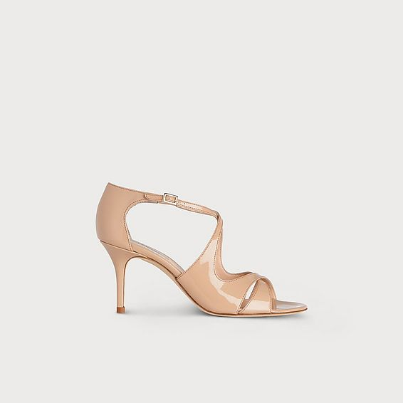 Blossom Trench Patent Sandals