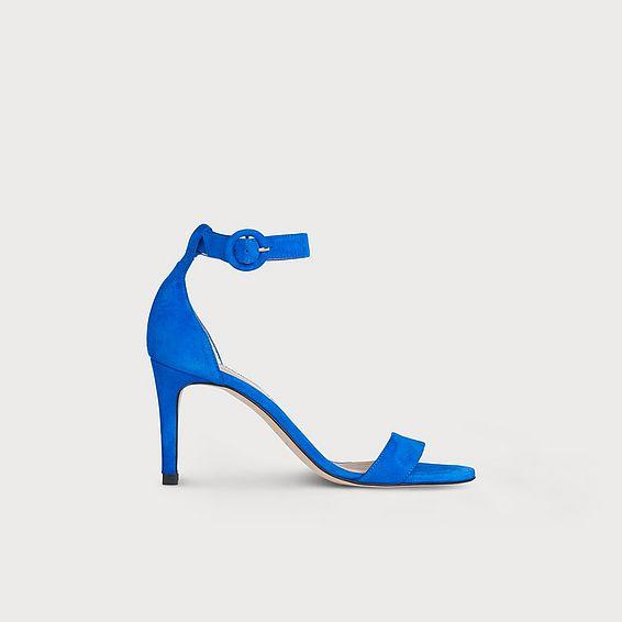 Dora Blue Suede Sandals