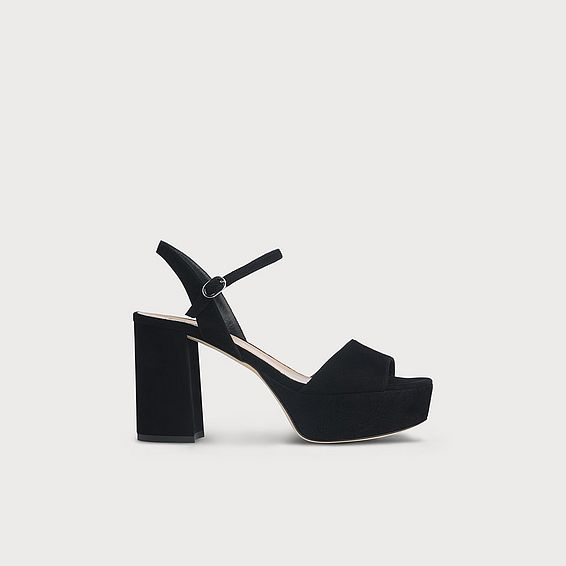 Keriss Black Suede Sandals