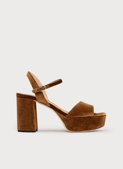 Keriss Bronze Suede Sandals