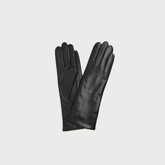 Ysabeau Black Leather Gloves