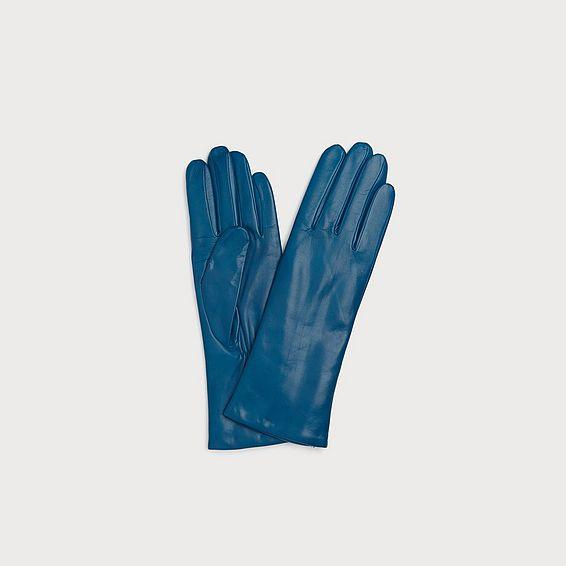 Ysabeau Blue Leather Gloves
