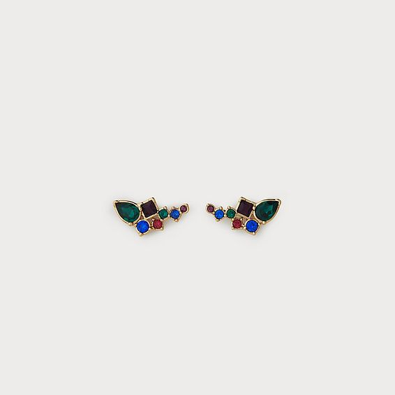 Phoebe Multi Crystal Pierced Earrings