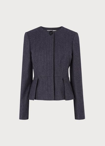 Aurore Grey Blue Jacket