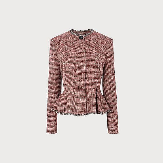 Cesilia Red Tweed Jacket