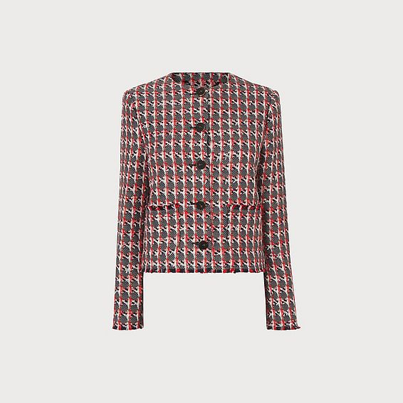 Danna Red Tweed Jacket