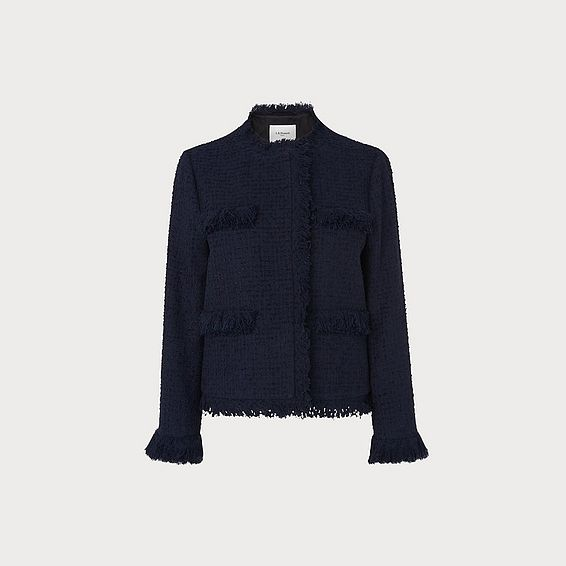 Myia Navy Tweed Jacket