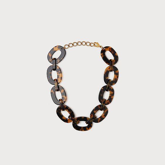 Jamie Tortoiseshell Link Necklace