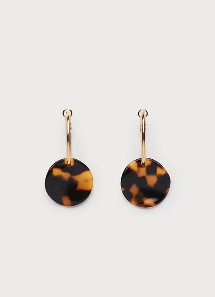 Joanna Tortoiseshell Loop Earrings