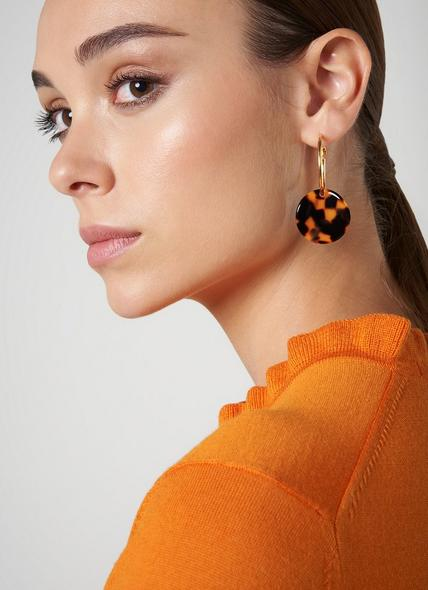Joanna Tortoiseshell Loop Earrings