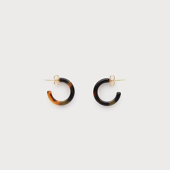 Jolie Tortoiseshell Round Earrings