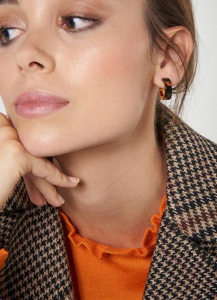 Jolie Tortoiseshell Round Earrings