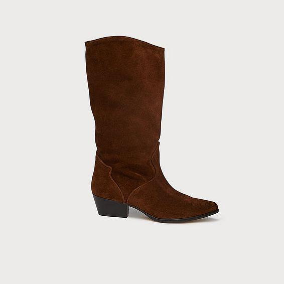 1f2f01e5529 Benita Brown Suede Knee Boots