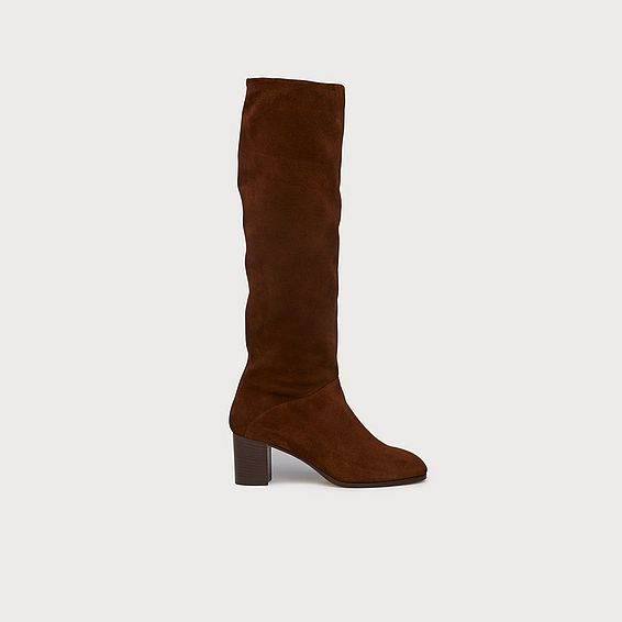 Esti Brown Suede Knee Boots