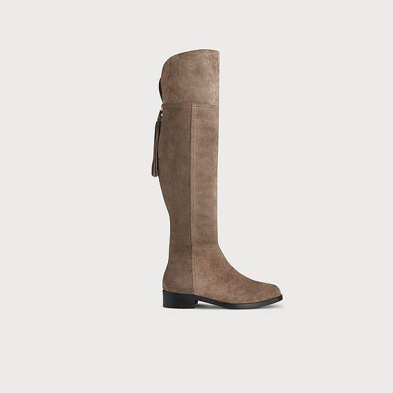 Ivey Mink Suede Knee Boots