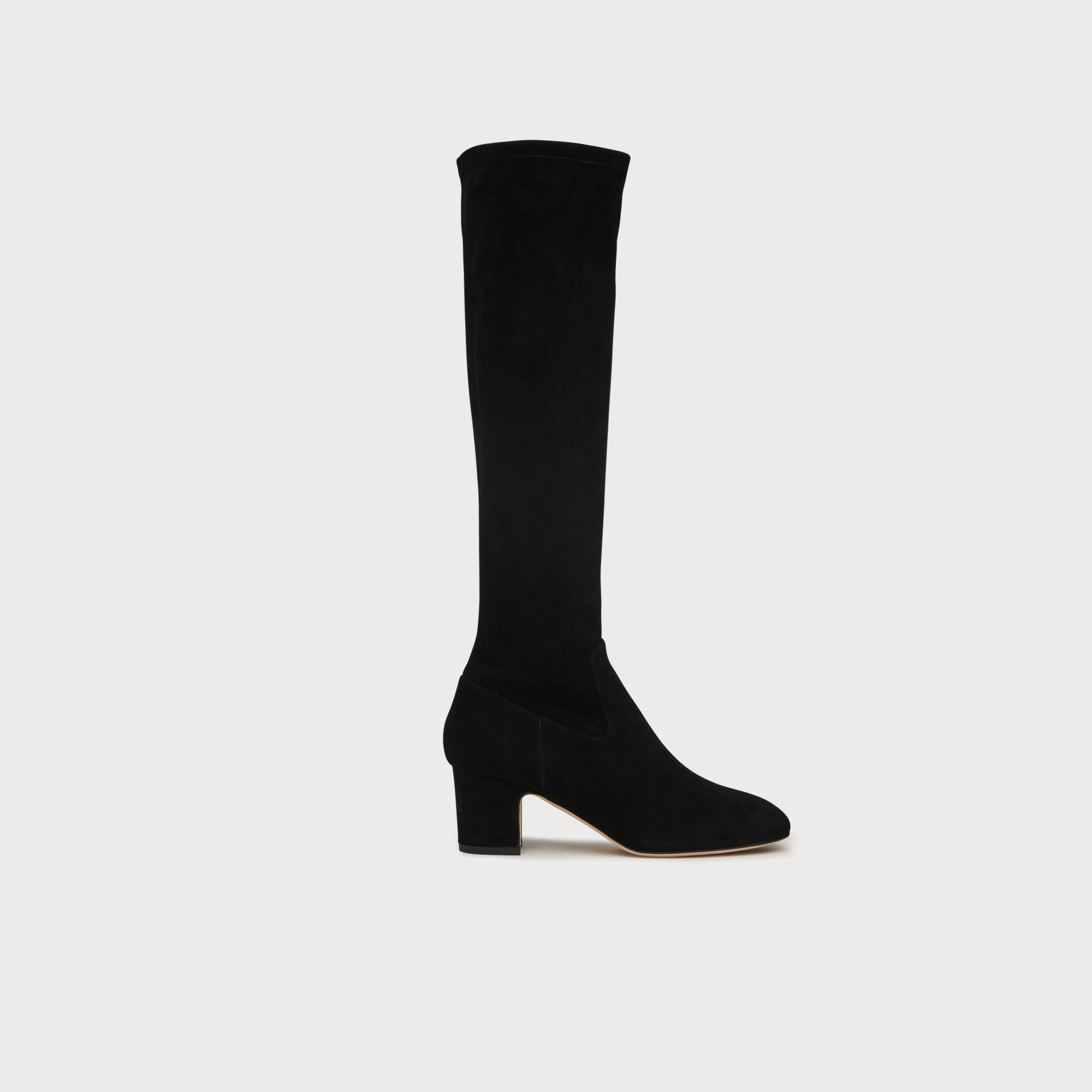 dce7ab871 Kiran Black Suede Knee Boots | Shoes | L.K.Bennett