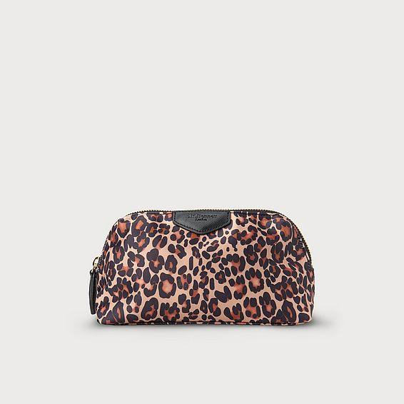 Indi Leopard Print Cosmetic Bag