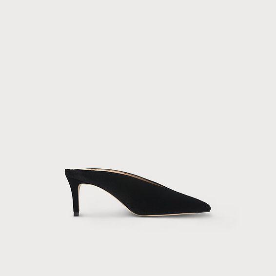 Celia Black Velvet Mules