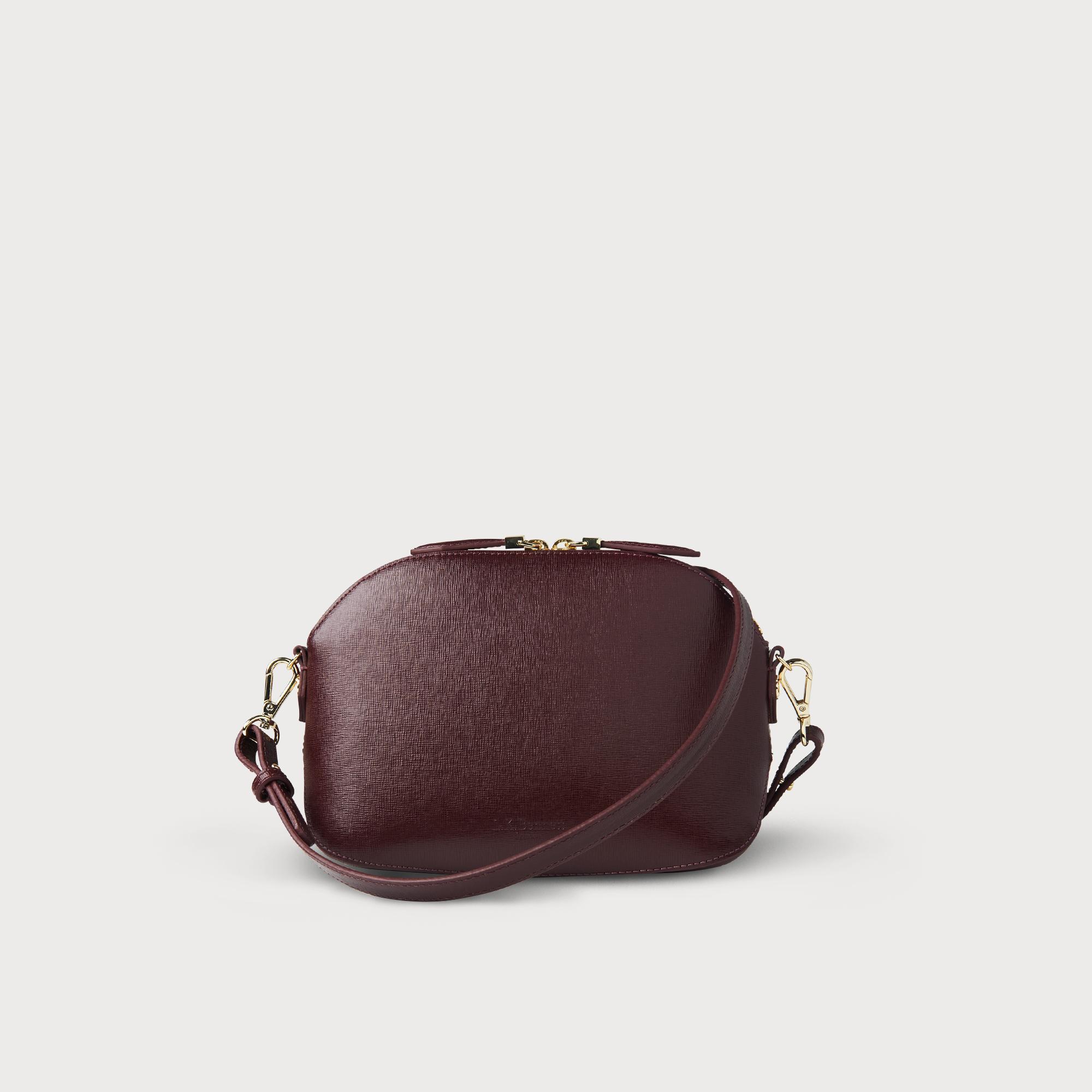Candice Oxblood Leather Shoulder Bag