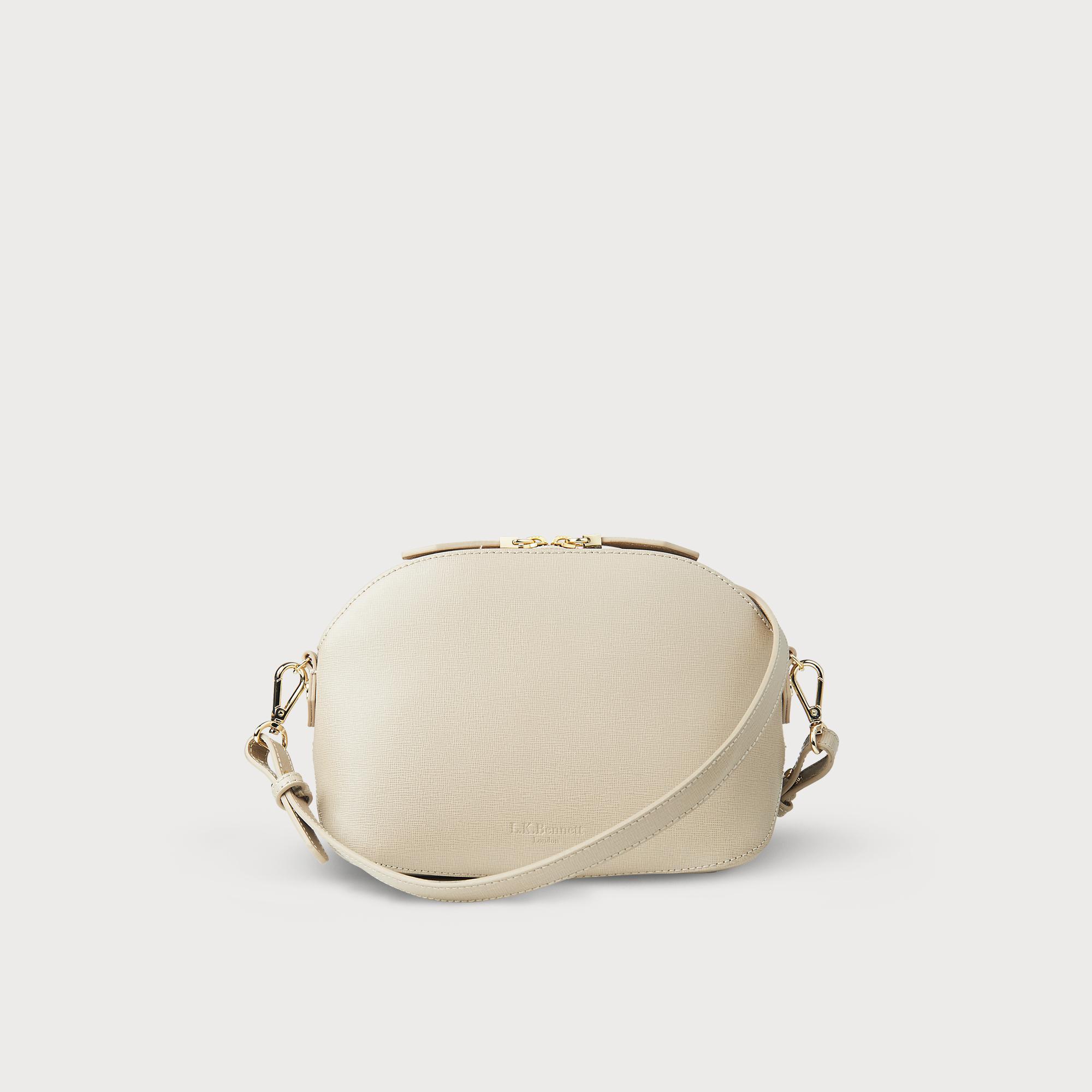 Candice Taupe Leather Shoulder Bag