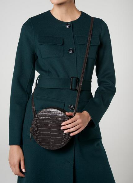 Luna Grey Croc Effect Shoulder Bag