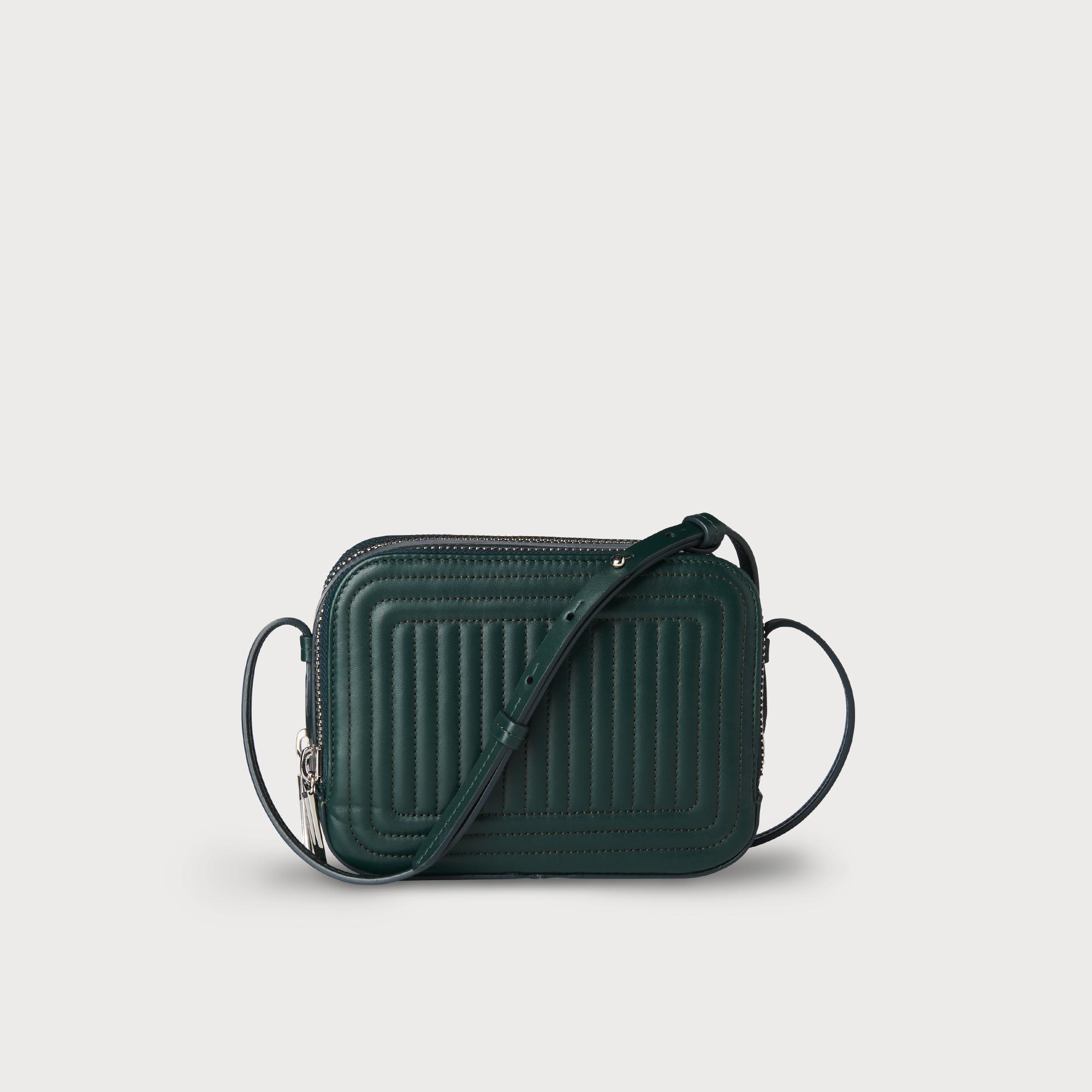 af22fd346a87 Mariel Green Leather Shoulder Bag | Handbags | L.K.Bennett