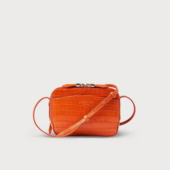 Mariel Tangerine Animal Print Shoulder Bag
