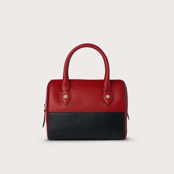 Melanie Red Blue Leather Shoulder Bag