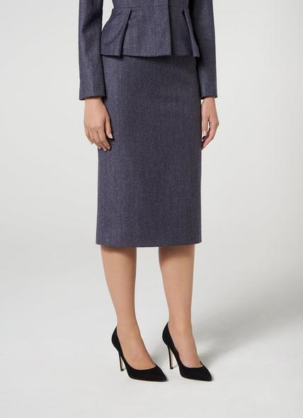 Aurore Grey Blue Skirt