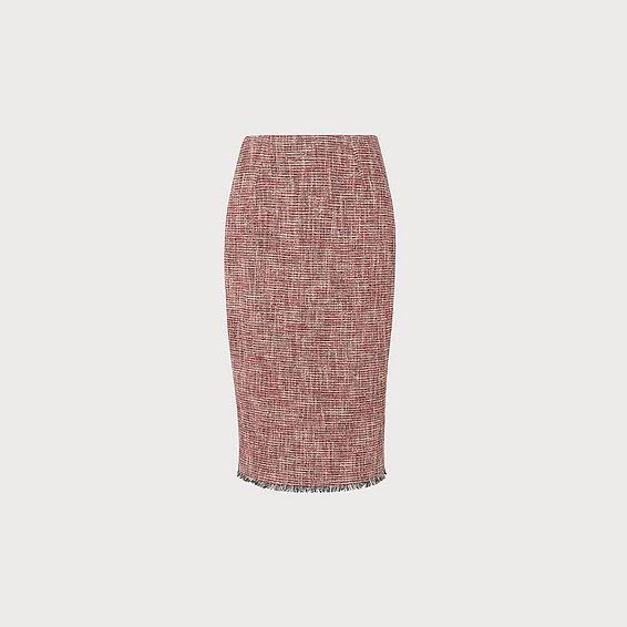 Cesilia Red Tweed Skirt