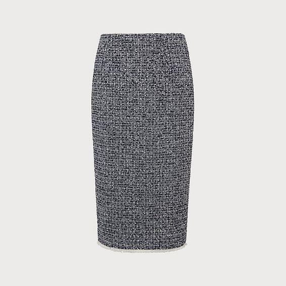 Char Navy Tweed Skirt