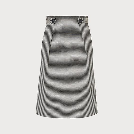 Mableen Blue Cotton Skirt