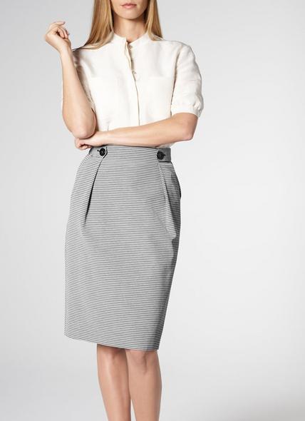 Mableen Blue Cotton Skirt