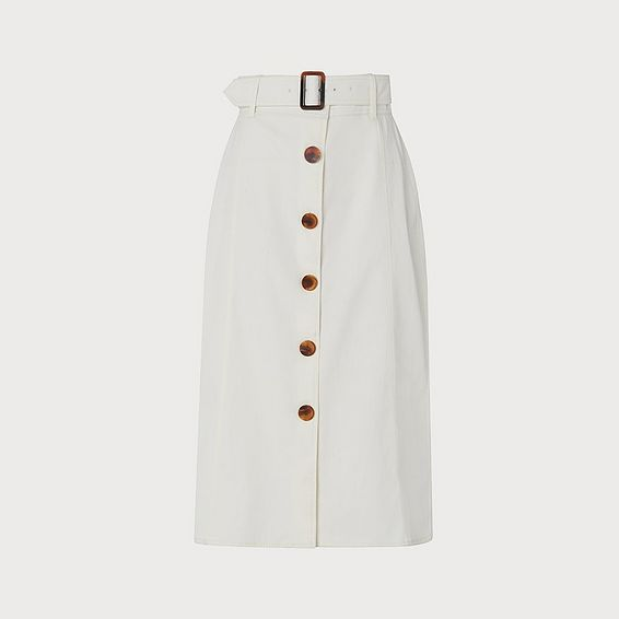 Oda Cream Cotton Skirt