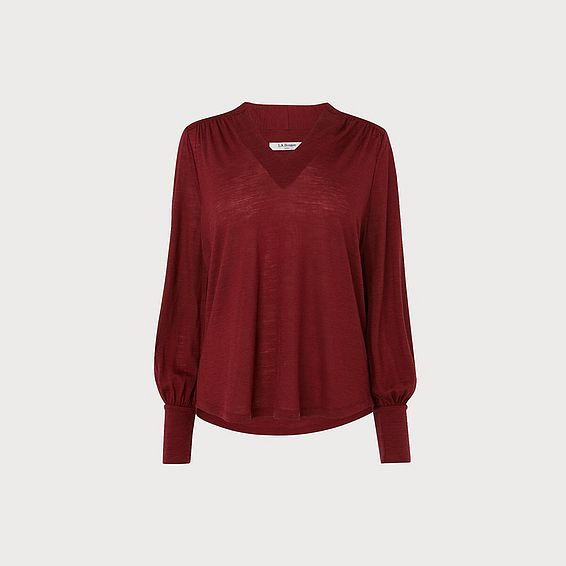 Cerys Wine Jersey Top