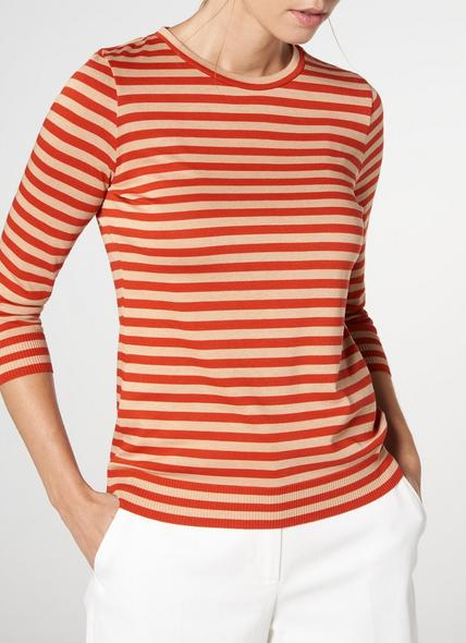 Estera Red Jersey Top