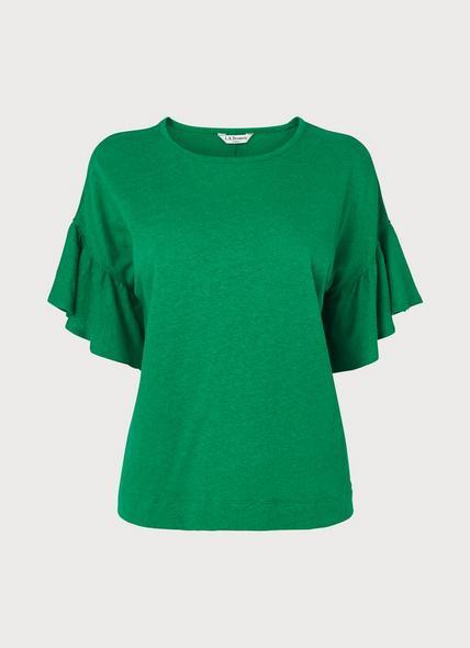 Gwyneth Fern Green Jersey Top