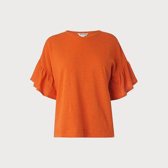 Gwyneth Orange Jersey Top