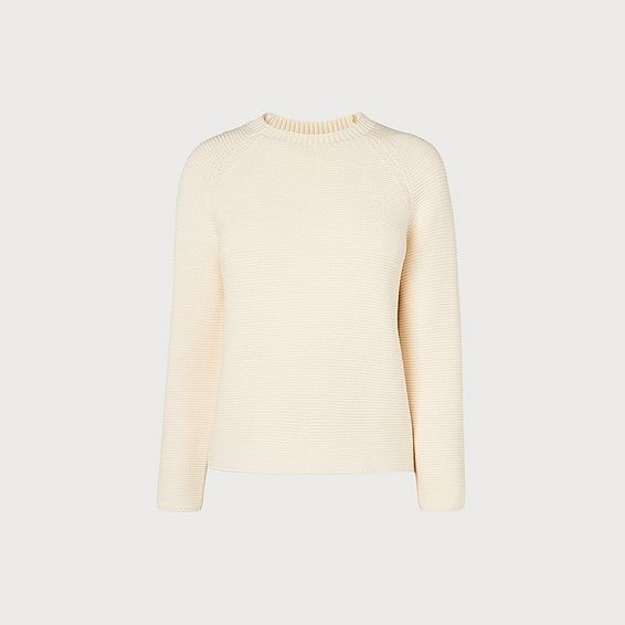 Delyla Oyster Wool Cotton Jumper