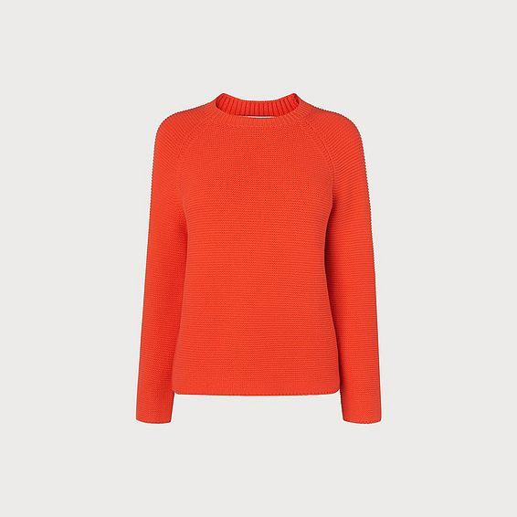 Delyla Orange Wool Cotton Jumper