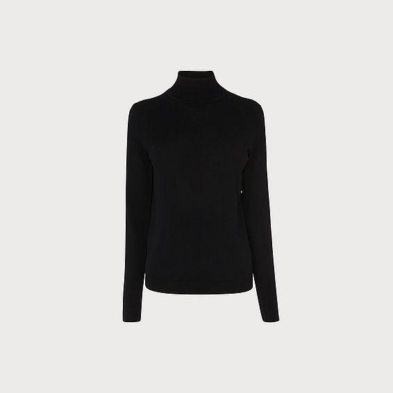Jae Black Silk Cotton Jumper