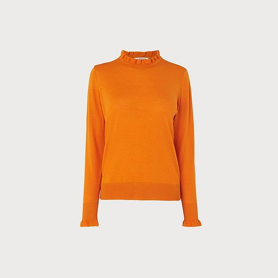 Jaza Orange Merino Wool Jumper