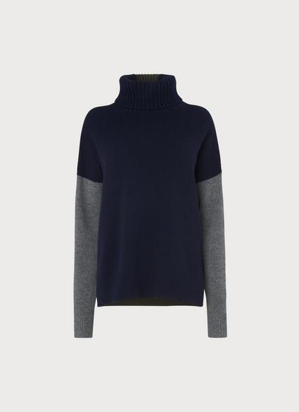 Sissi Navy Wool Cashmere Jumper